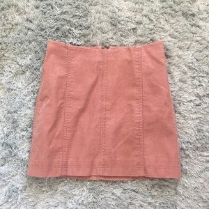 Free People Skirts - Free People faux suede pink mini skirt